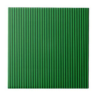 Green and Black Stripes Tile