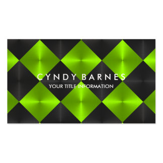 Green and Black Tiles Business Card