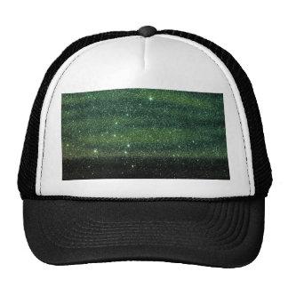 Green and Black Trendy Gradient Glitter Cap