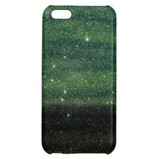Green and Black Trendy Gradient Glitter Case For iPhone 5C