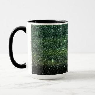 Green and Black Trendy Gradient Glitter Mug