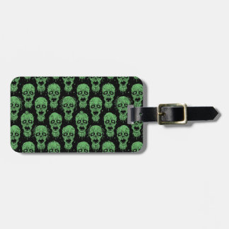 Green and Black Zombie Apocalypse Pattern Luggage Tag