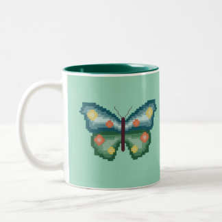 Green and Blue Butterfly Mug