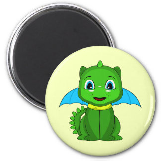 Green And Blue Chibi Dragon Refrigerator Magnets