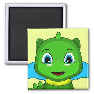 Green And Blue Chibi Dragon Refrigerator Magnet
