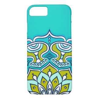 Green and Blue Colorful Mandala iPhone 8/7 Case