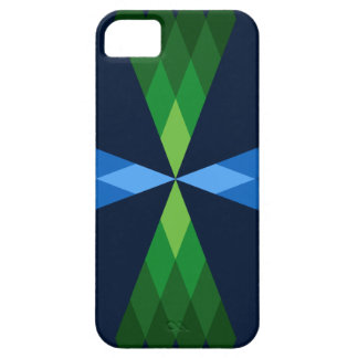 Green and Blue Diamonds iPhone 5 Case