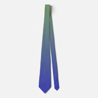 Green and Blue Gradient Colors Tie