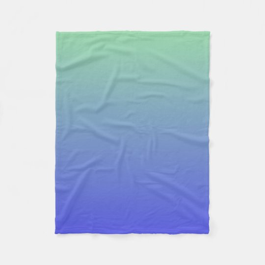 Green and Blue Gradient Colours Fleece Blanket