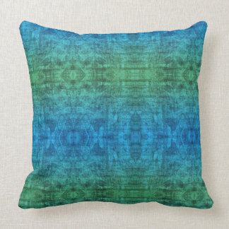 Green And Blue Gradient Texture Pattern Cushion
