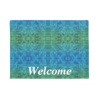 Green And Blue Gradient Texture Pattern - Welcome Doormat