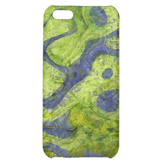 GREEN AND BLUE GRUNGE CASE FOR iPhone 5C