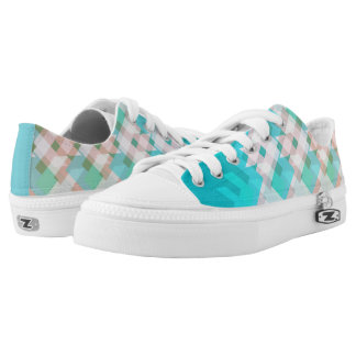 Green and blue lines low tops