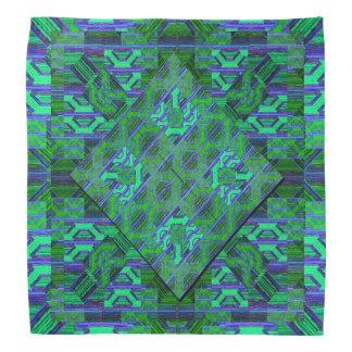 Green and Blue Pattern Bandana