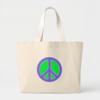 Green and Blue Peace Symbol Design Bag