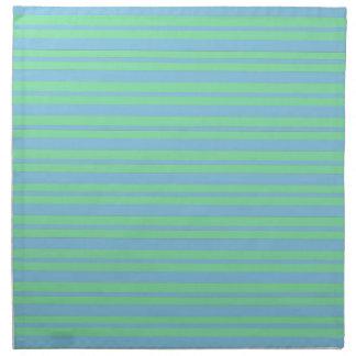 Green and Blue Pinstripe Napkin