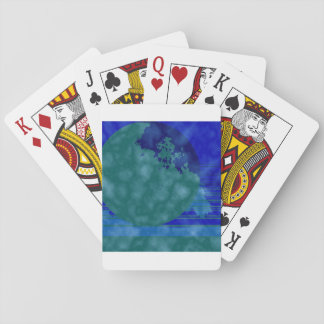 green and blue playing cards