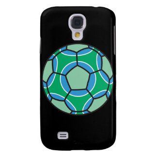 green and blue soccerball galaxy s4 case