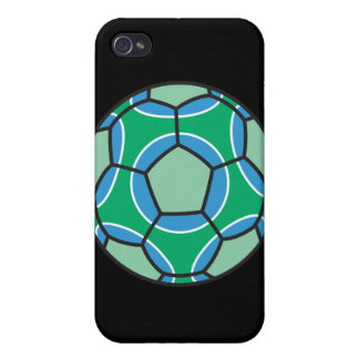 green and blue soccerball cases for iPhone 4