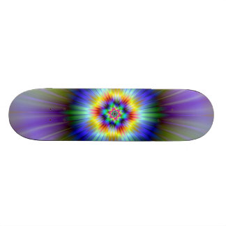 Green and Blue Star Skateboard