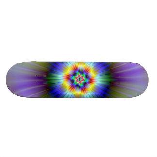 Green and Blue Star Skateboard