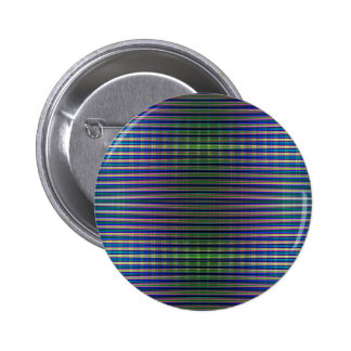Green and blue striped pattern 6 cm round badge