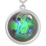 Green and Blue Swirl Bowling Ball Jewelry