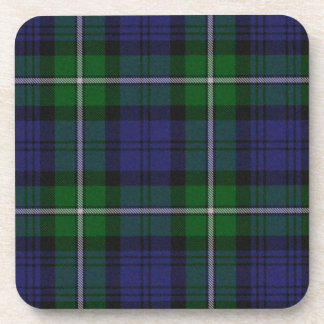 Green and Blue Tartan Plaid Coaster