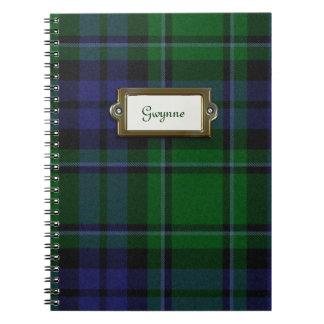 Green and Blue Tartan Plaid Notebook