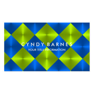 Green and Blue Tiles Business Card