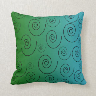 Green and Blue toned Pillow Spiral Design