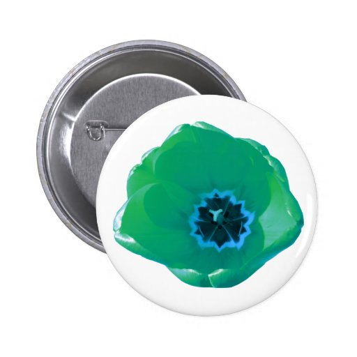 Green and Blue Tulip Button