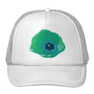 Green and Blue Tulip Hat