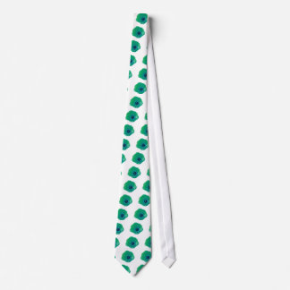 Green and Blue Tulip Tie