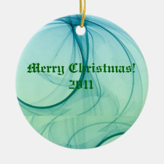 Green And Blue Waters Round Ceramic Decoration