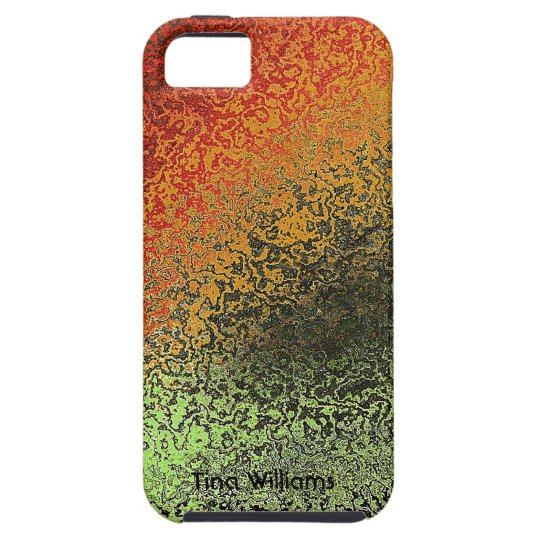 Green and Bronze Faux Hammered Metal iPhone 5 Case
