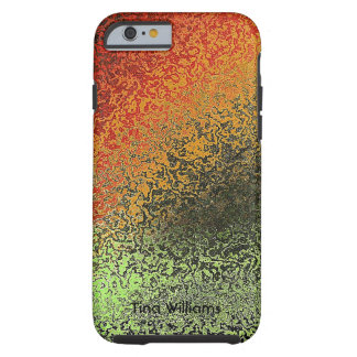 Green and Bronze Faux Hammered Metal iPhone 6 case Tough iPhone 6 Case