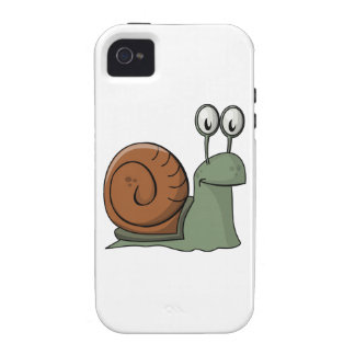 Green and Brown Cartoon Snail Vibe iPhone 4 Cases