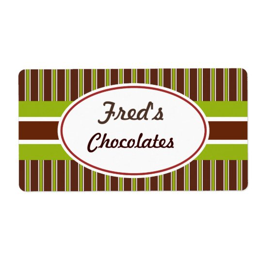 Green and Brown Custom Labels