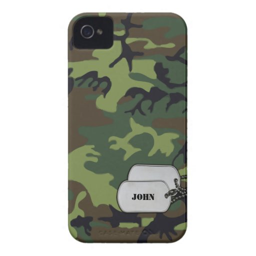 Green and Brown Military Jungle Camouflage Blackberry Bold Case