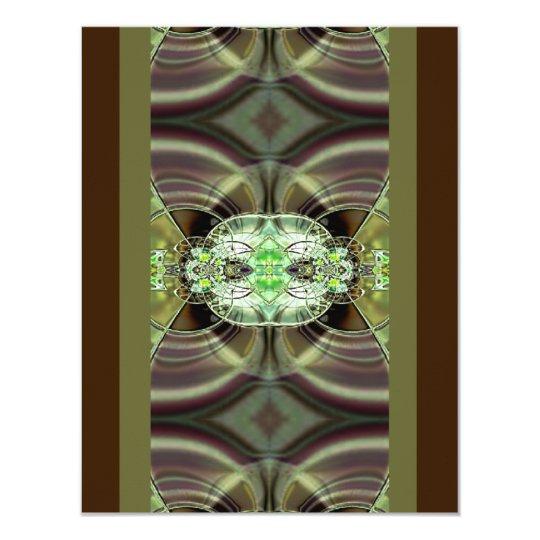 Green and Brown Razzle Dazzle Custom Invitation