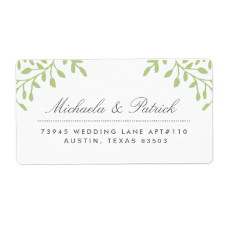 Green and Charcoal Address Labels
