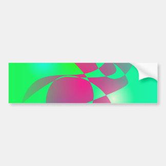 Green and Dark Pink Bumper Stickers