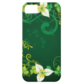 Green and Floral iPhone 5 Covers