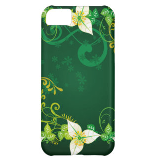 Green and Floral iPhone 5C Covers