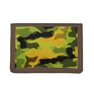 Green and Gold Camoflauge Trifold Wallets
