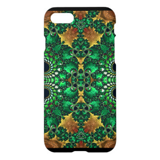 Green and Gold Decorative Abstract iPhone7 Case