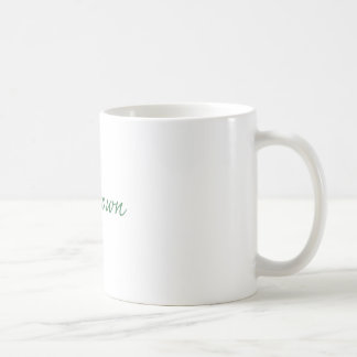 Green and gold football player coffee mugs