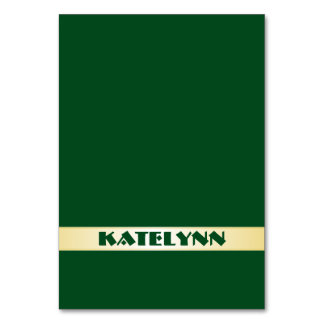 Green and Gold Name Template Place Cards Table Cards