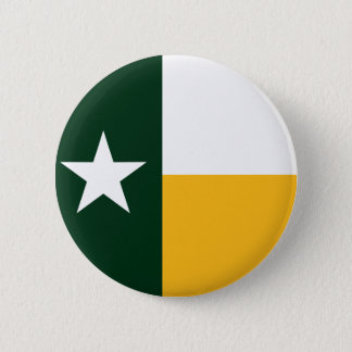 Green and Gold Texas Flag 6 Cm Round Badge